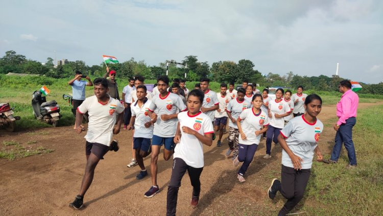 जयहिंद डिफेन्स अकॅडमी मुरबाड यांचा आजादीचा अमृत महोत्सवी कार्यक्रम अंतर्गत स्वतंत्रता फ्रीडम दौड स्पर्धा संपन्न